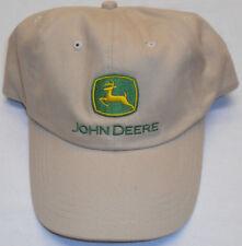 JOHN DEERE TAN KHAKI Baseball Cap Hat Strapback