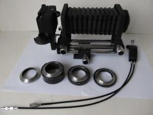 Nikon Macro Photography Set PB-4 Bellows, PS-4, AR-4 & PK 8-14-27.5 Tubes *****