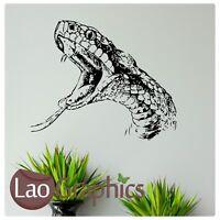 Snake Head Reptile Wall Art Sticker Large Vinyl Transfer Graphic Decal Decor RA4