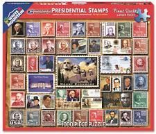 WHITE MOUNTAIN JIGSAW PUZZLE PRESIDENTIAL STAMPS LOIS B SUTTON 1000 PCS #1243