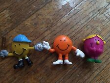 Arby's Mr. Men Figurines (3) Clean and in Good Condition. Fast Shipping.