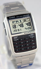 Casio DBC32D-1A Steel Databank Watch Calculator Illuminator 25 Page BRAND NEW
