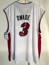 Adidas NBA Jersey Miami Heat Dwayne Wade White Nickname sz XL