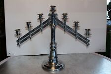 Benziger Bros NY Candelabra Church Menorah Candlestick Adjustable 7 Cups Silver