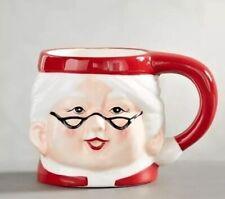 Pottery Barn Christmas Mrs. Claus Mug Cup Coffee Hot Chocolate
