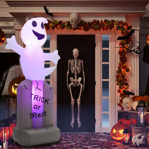 Large Halloween Inflatable Blow Up Ghost w/LED Light Indoor Outdoor Yard Decor