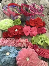 New listing Lot of 19 Baby Girl Kid Hair Bow Flower Accessories
