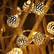 40LED Christmas String Lights Fairy Morocco Ball LED Wedding Xmas Party Decors
