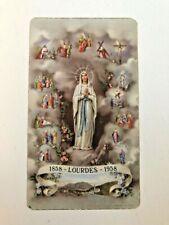 Vintage Prayer For The Centenary 1858-Lourdes-1958 Holy Card