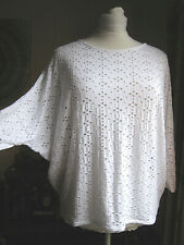 12 Phase Eight unusual white batwing top loose fit lagenlook