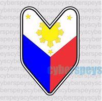 Philippine Flag JDM Design Car Vinyl Decals/Stickers