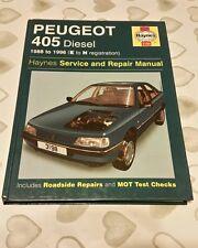 PEUGEOT 405 1988 TO 1996 E TO N REG DIESEL HAYNES WORKSHOP MANUAL 3198 FREE P&P