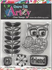 Dare 2B Artzy Retro Owl Clear Cling Rubber Stamps