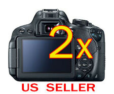 2x Canon EOS 700D Rebel T5i Camera LCD Screen Protector Guard Shield Film