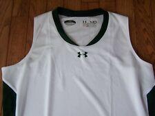 Under Armour Heat Gear Volleyball Sleeveless Shirt WHITE/GREEN Women's Med $30