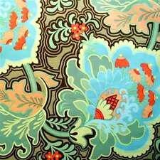 """1 yard 24 inches AMY BUTLER """"BELLE"""" GOTHIC ROSE Blue"""