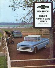 1966 CHEVROLET TRUCK SALES BROCHURE-C10 C20 C30 K10-20
