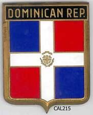 CAL215 - PLAQUE DE CALANDRE AUTO - DOMINICAN REP
