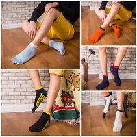 5 Pairs Men's five finger toe Breathe Socks Ankle Casual Sports Low Cut Socks