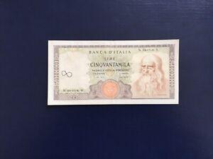 ITALIE Billet 50000 Lires Léonard De Vinci  1970