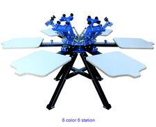 Techtongda 6 Color 6 Station Screen Printing Press Manual Color Matching Printer