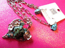 Turquoise Heart Necklace Set
