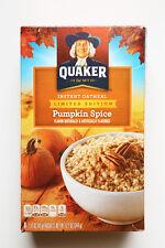 Quaker Seasonal Pumpkin Spice Instant Oatmeal Packets 1 box