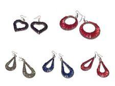 Mixed Metals Drop/Dangle Beaded Costume Earrings