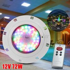 72W LED RGB Underwater Swimming Pool Light Spa Lamp 12V + Remote Control  J