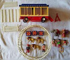 Playmobil vintage #3727 rare Romani Circus Lion tamer set and # 3797 parts