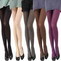 US Candy Colors Opaque Footed Socks Tights Pantyhose Women Stockings Worthy