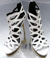 NEU 2017 1cm Plateau Hohe Stiefel Weiß Sandalen Pumps Schuhe N52 High Heels 37