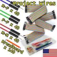 260pcs Exra Long DuPont 30cm Jumper Wires M-M F-M F-F Arduino Precut Breadboard