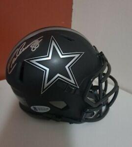 Drew Pearson Signed/Auto Cowboys Eclipse Mini Football Helmet BECKETT COA