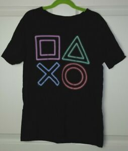 Boy's Old Navy Playstation Control Buttons Short Sleeve Tee Black Size 10-12