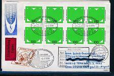 98115) LH FF Stuttgart - Dublin Irland 2.7.94, Eilboten-Brf Mef 8x Mi.1737