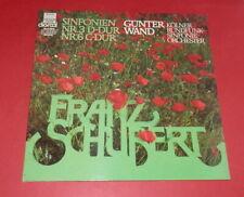 Schubert -- Sinfonien Nr 3 D-Dur, Nr 6 C-Dur / Günter Wand   -- LP