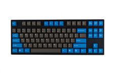 Tai Hao ABS Double-shot Keycaps - Dark Gray/Oceanic Blue, Cherry MX 104 keys