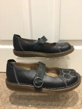 """Women's Mary Jane """"Kirsten"""" Black Leather Shoes Pump Ankle Strap Uk Size 5 EU38"""