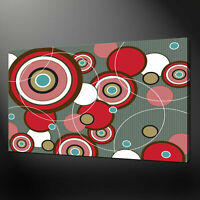 ABSTRACT CIRCLES CANVAS WALL ART PICTURE AB554 MATAGA UNFRAMED-ROLLED