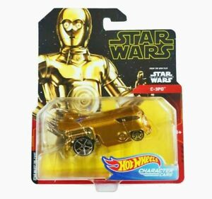 Hot Wheels Star Wars Character Cars C3-PO Droid Car Die-Cast 1:64 Scale