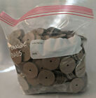 """Very full bag of hardboard disks for joining bears-1 1/2"""" with 1/8""""hole"""