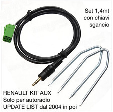KIT Cavo Aux MP3 iPod RENAULT Update list KANGOO LAGUNA TWINGO MODUS CLIO