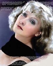 GRETA GARBO IN SUSAN LENOX 8X10 BEAUTIFUL COLOR PHOTO BY CHIP SPRINGER