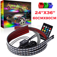 4pcs Multicolor LED Neon Glow Strip Under Car Light Tube Underbody Kit Fit Kia