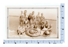 Swimmers Pose for Photograph circa 1930s Beach Group Photo