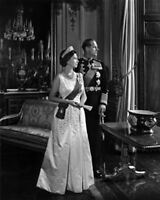 1966 Queen Elizabeth & Prince Philip Black & White 8 X 10 Photo Free Shipping