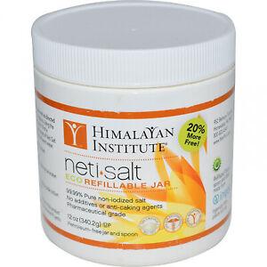 Himalayan Institute, Neti Salt, Eco Refillable Jar, 12 Oz (340.2 G)