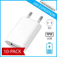 10-PACK FOR IPHONE USB MURAL CHARGEUR PRISE ADAPTER WALL CHARGING PLUG CHARGER
