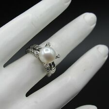 David Yurman Ring Cable Pearl With Diamond Size 7